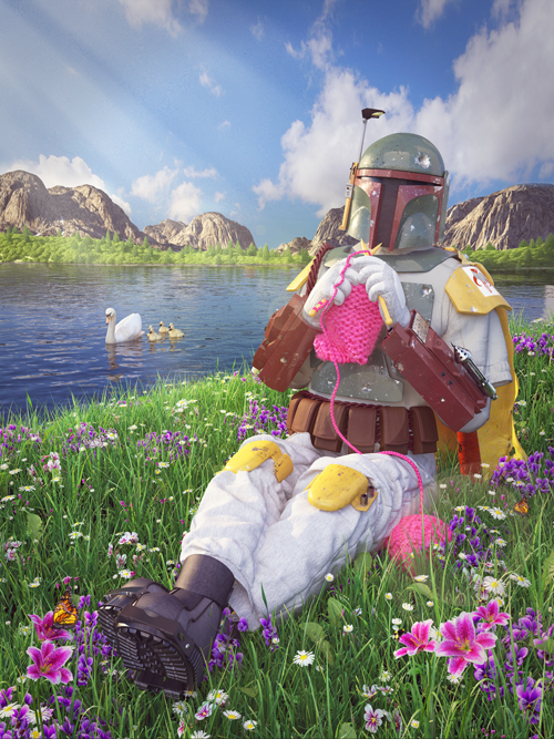 Boba Fett, by digital artist Kyle Hagey. Click to read our interview!