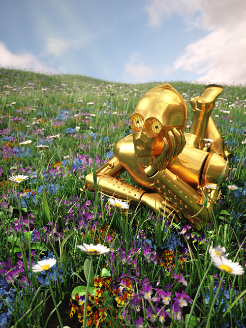 C3PO, by digital artist Kyle Hagey. Click to read our interview!