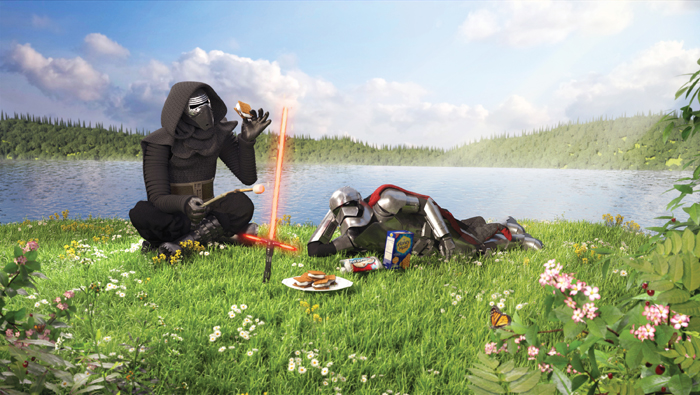 Kylo Ren and Captain Phasma, by digital artist Kyle Hagey. Click to read our interview!