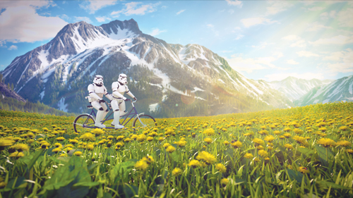 Storm troopers, by digital artist Kyle Hagey. Click to read our interview!