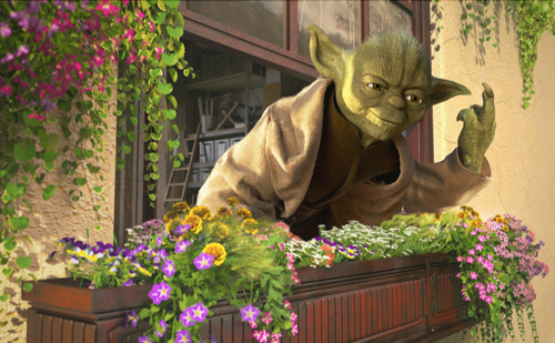 Yoda flip off, by digital artist Kyle Hagey. Click to read our interview!